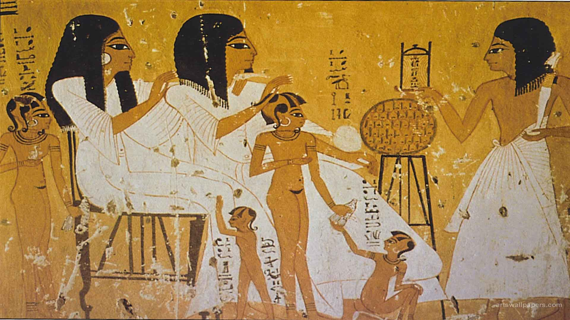 egyptian paintings