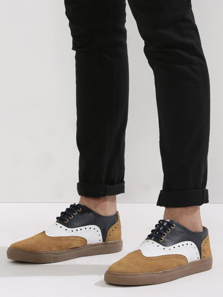 BROWN BLACK BROGUE SHOES
