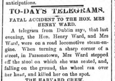 first accident by an automobile