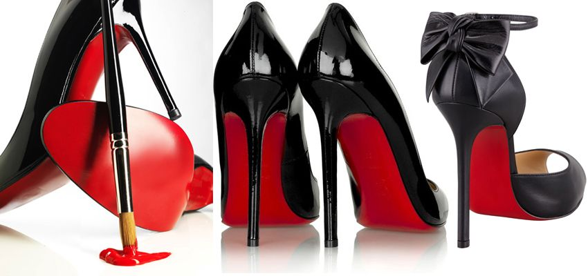 red color sole shoes