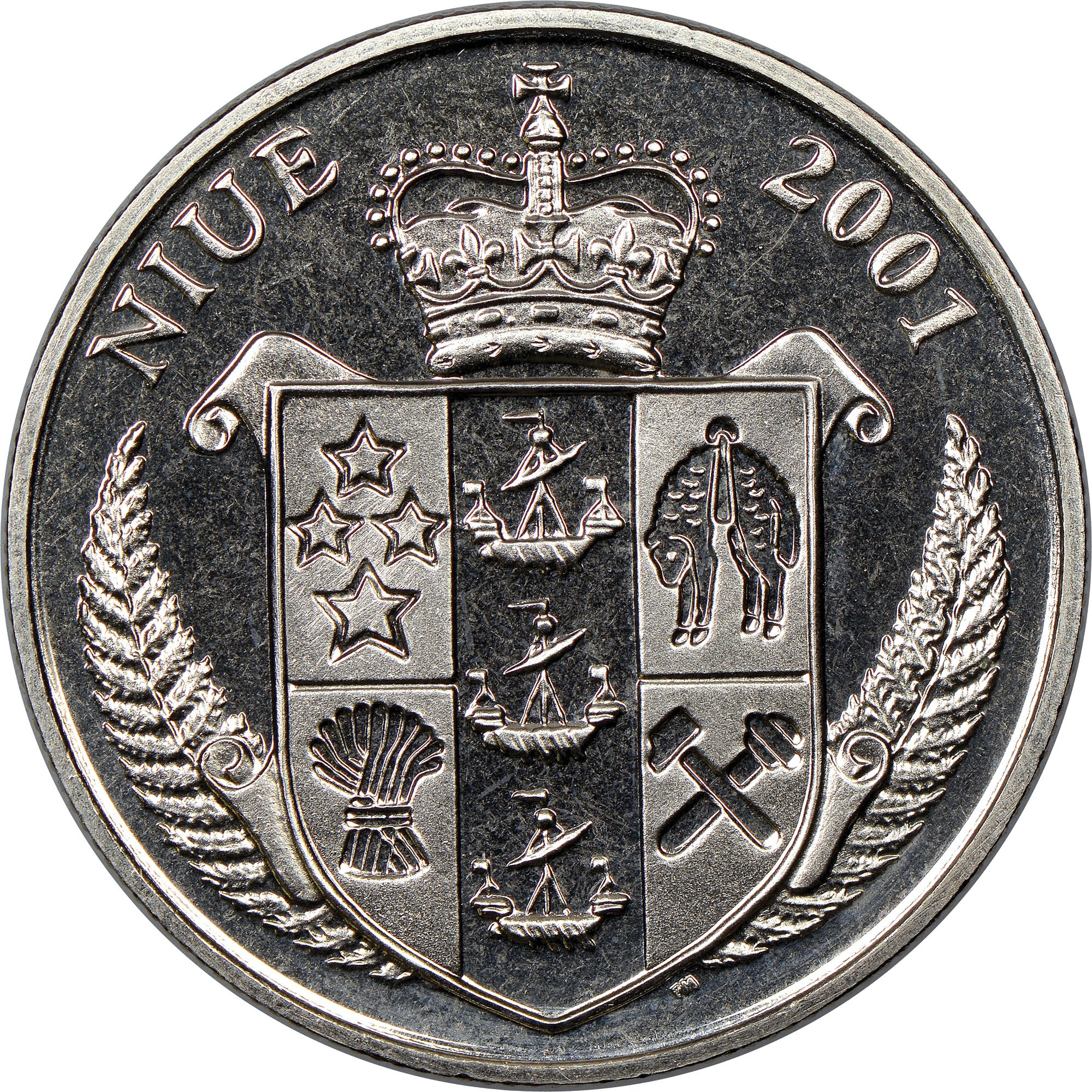 Reverse of Niue currency coin