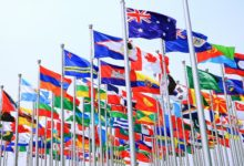 flags around the world