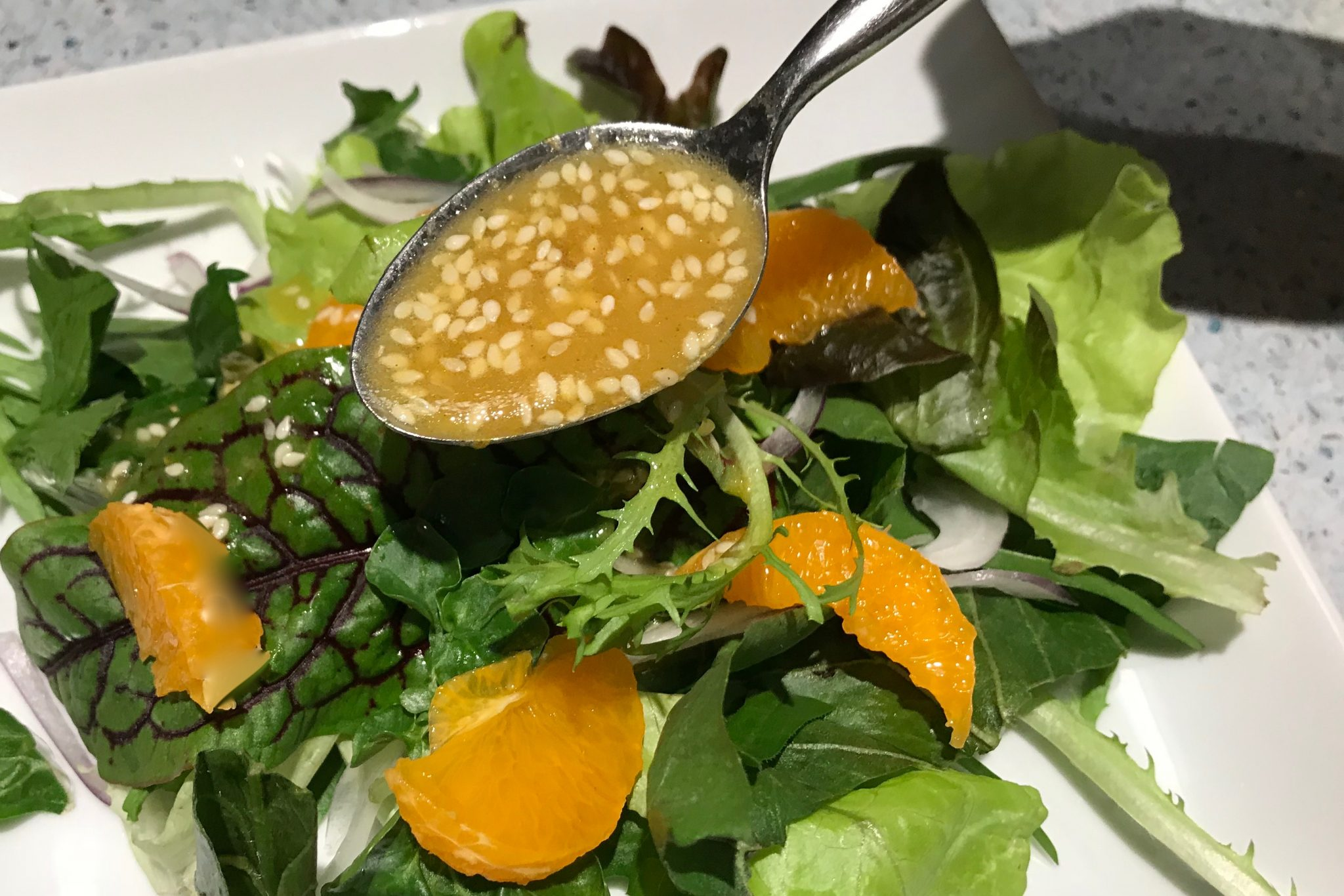 Food combinations sesame spinach