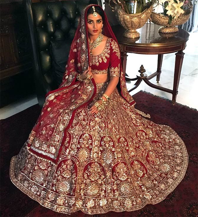 traditional Indian bridal lehenga